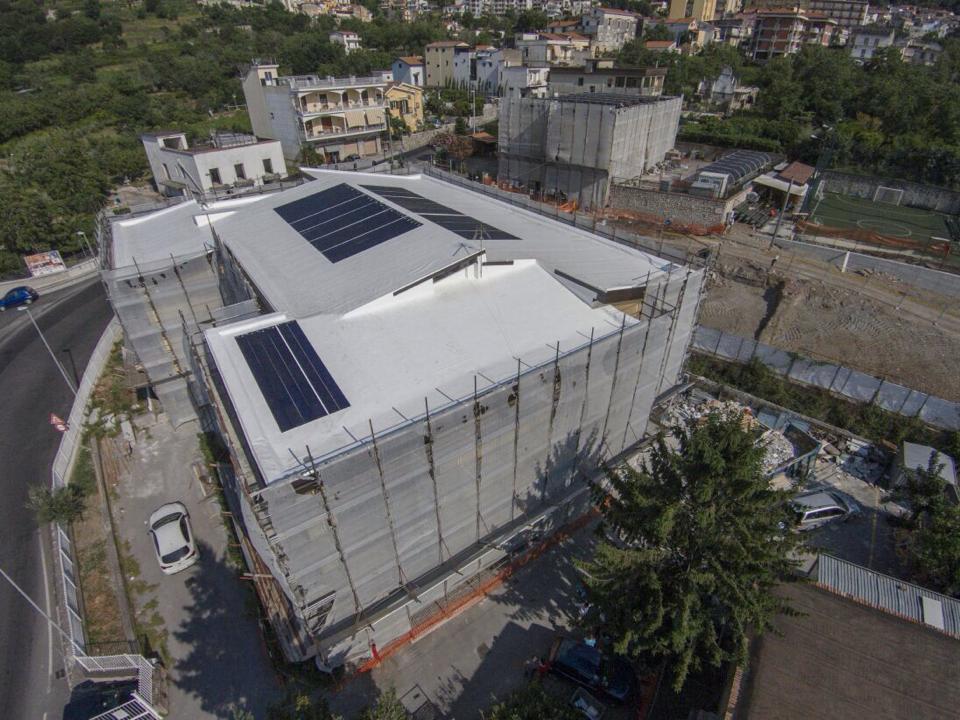 Impianto fotovoltaico_10 kw scuola angri salerno